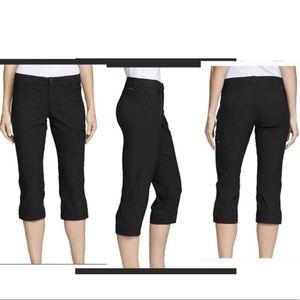 Eddie Bauer Black Capri Pants